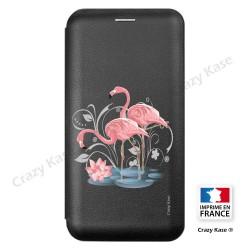 Etui Galaxy S9+ motif Flamant rose - Crazy Kase