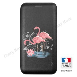 Etui Galaxy A6+ (2018) motif Flamant rose - Crazy Kase