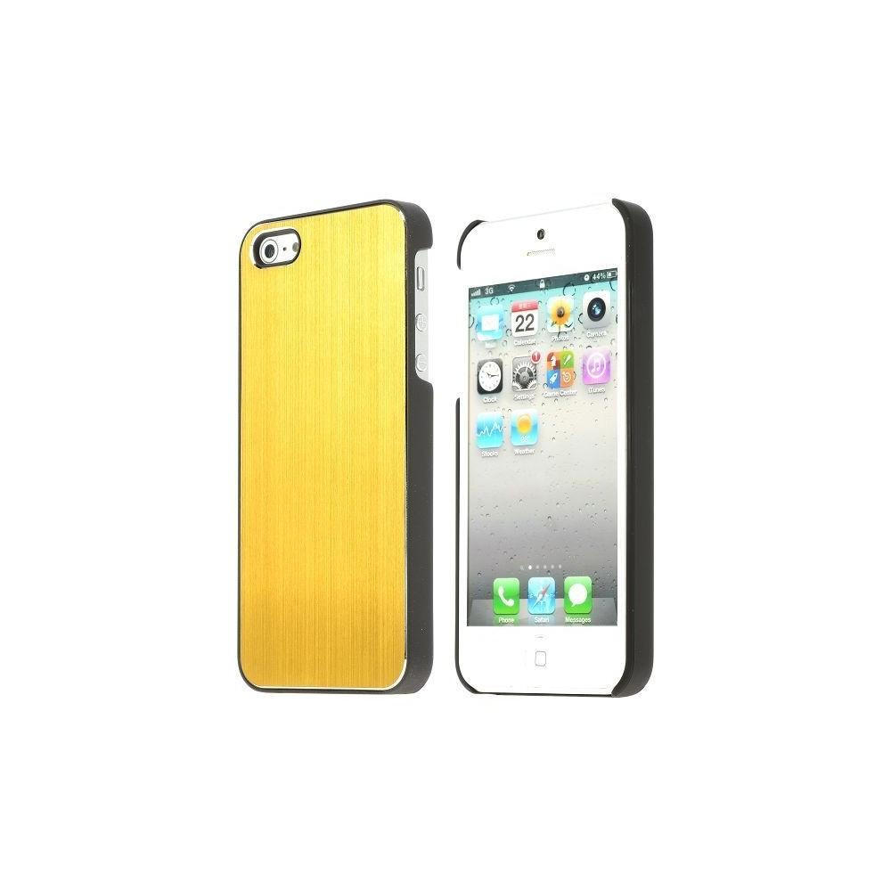 Coque aluminium brossé or pour iPhone 5