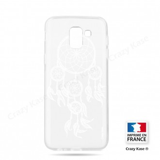 Coque Galaxy J6 (2018) souple motif Attrape Rêves Blanc - Crazy Kase
