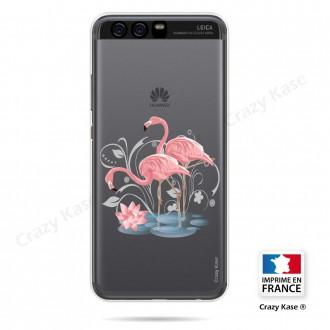 Coque compatible Huawei P10 souple Flamant rose - Crazy Kase