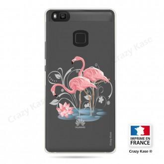 Coque compatible Huawei P9 Lite souple Flamant rose - Crazy Kase