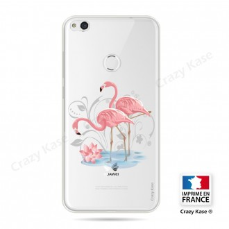 Coque compatible Huawei P8 Lite souple Flamant rose - Crazy Kase