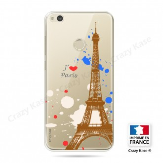 Coque compatible Huawei P8 Lite souple Paris - Crazy Kase