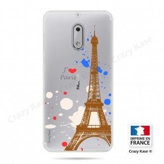 Coque compatible Nokia 6 souple Paris - Crazy Kase