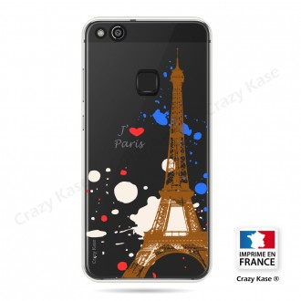 Coque compatible Huawei P10 Lite souple Paris - Crazy Kase