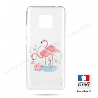 Coque compatible Huawei Mate 20 Pro souple Flamant rose -  Crazy Kase