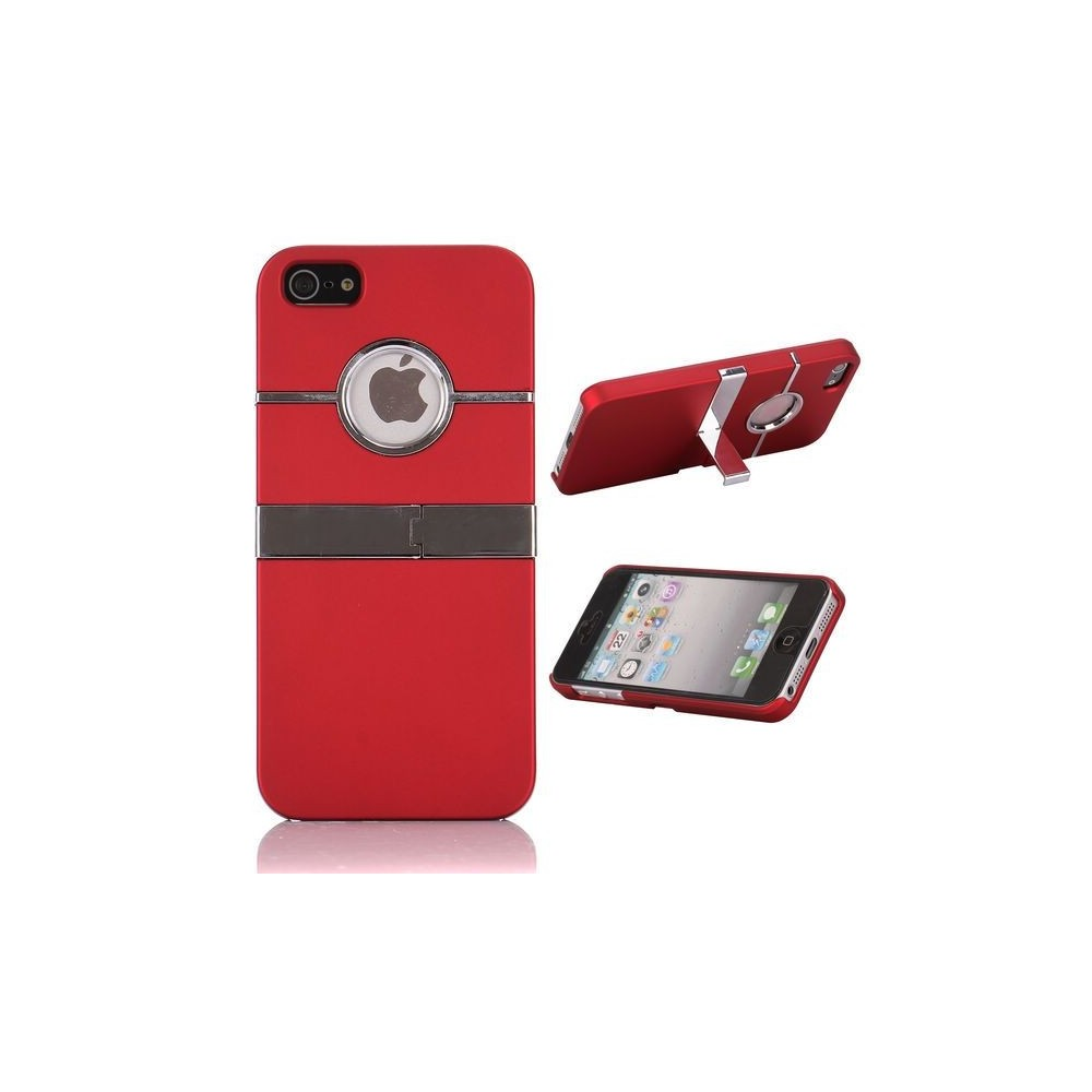 Coque plastique logo apparent support TV rouge pour iPhone 5