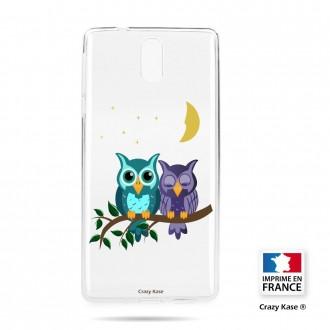 Coque compatible Nokia 3.1 souple motif chouettes au clair de lune - Crazy Kase