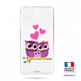 Coque compatible Nokia 3.1 souple motif Famille Chouette - Crazy Kase