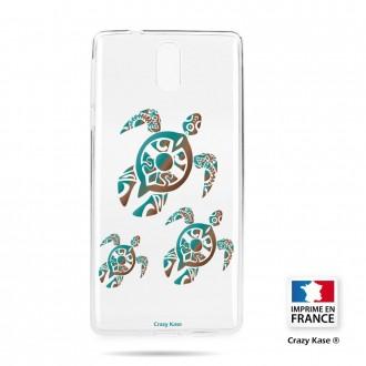 Coque compatible Nokia 3.1 souple motif Famille Tortue - Crazy Kase