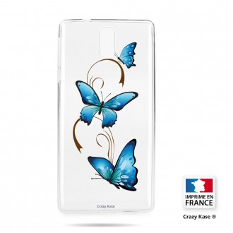 Coque compatible Nokia 3.1 souple motif Papillon sur Arabesque - Crazy Kase