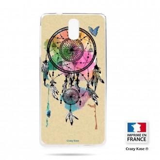 Coque compatible Nokia 3.1 souple motif Attrape rêve et papillon - Crazy Kase