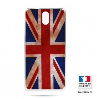 Coque compatible Nokia 3.1 souple motif Drapeau UK vintage - Crazy Kase