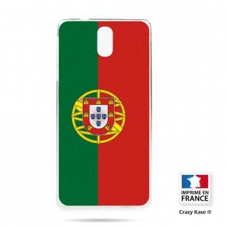Coque compatible Nokia 3.1 souple motif Drapeau Portugais - Crazy Kase