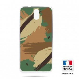 Coque compatible Nokia 3.1 souple motif Camouflage - Crazy Kase