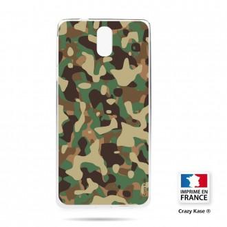 Coque compatible Nokia 3.1 souple motif Camouflage militaire - Crazy Kase
