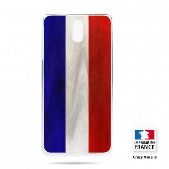 Coque compatible Nokia 3.1 souple Drapeau Français Vintage- Crazy Kase