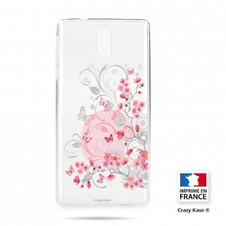 Coque compatible Nokia 3.1 souple Fleurs et papillons -  Crazy Kase