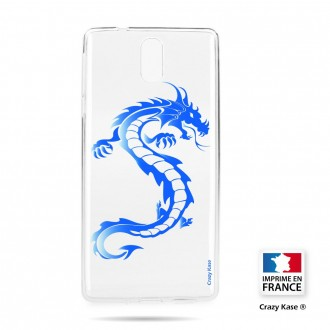 Coque compatible Nokia 3.1 souple Dragpon bleu - Crazy Kase