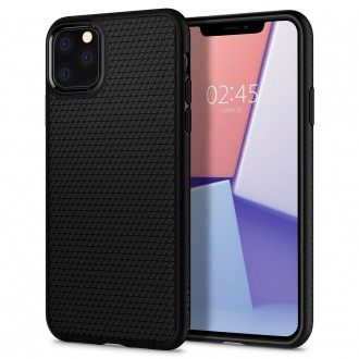 Coque compatible iPhone 11 Pro Liquid Air noir mat - Spigen