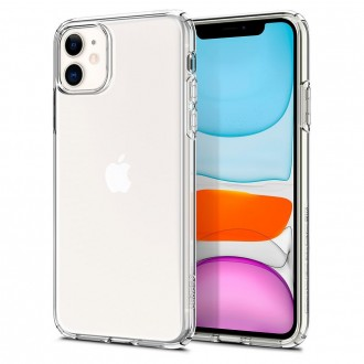Coque compatible iPhone 11 Liquid Crystal transparente - Spigen