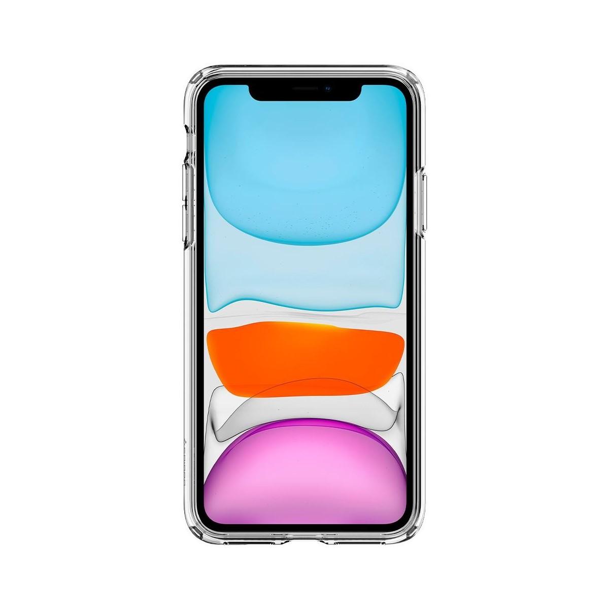 Coque compatible iPhone 11 Liquid Crystal transparente - Spigen