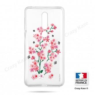 Coque compatible Nokia 4.2 souple Fleurs de Sakura - Crazy Kase