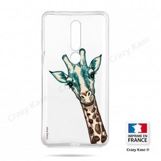 Coque compatible Nokia 4.2 souple Tête de Girafe - Crazy Kase