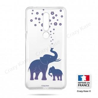 Coque compatible Nokia 4.2 souple Eléphant Bleu - Crazy Kase