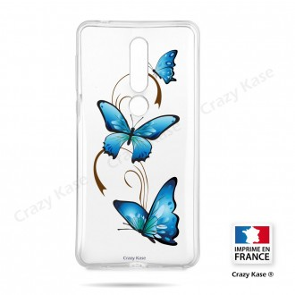 Coque compatible Nokia 4.2 souple Papillon sur Arabesque - Crazy Kase
