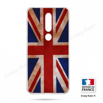 Coque compatible Nokia 4.2 souple Drapeau UK vintage - Crazy Kase