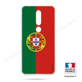 Coque compatible Nokia 4.2 souple Drapeau Portugais - Crazy Kase