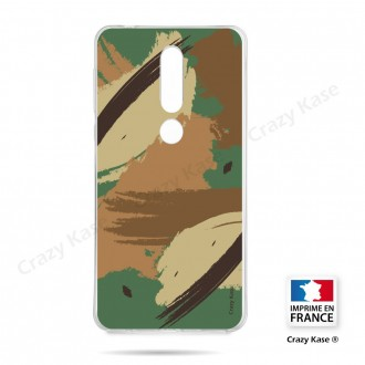 Coque compatible Nokia 4.2 souple Camouflage - Crazy Kase