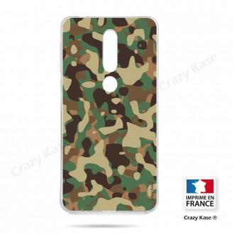Coque compatible Nokia 4.2 souple Camouflage militaire - Crazy Kase