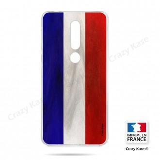 Coque compatible Nokia 4.2 souple Drapeau Français Vintage- Crazy Kase