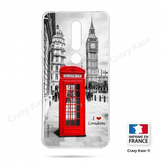 Coque compatible Nokia 4.2 souple Londres -  Crazy Kase