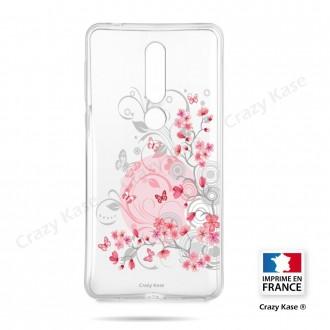 Coque compatible Nokia 4.2 souple Fleurs et papillons -  Crazy Kase