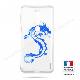 Coque compatible Nokia 4.2 souple Dragon bleu - Crazy Kase