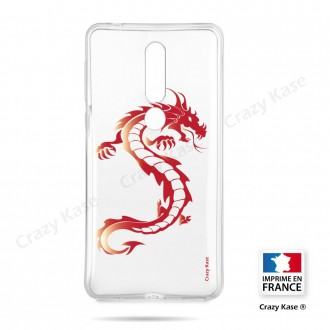Coque compatible Nokia 4.2 souple Dragon rouge- Crazy Kase