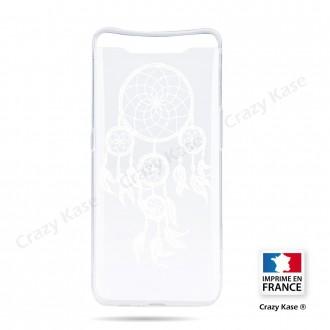 Coque compatible Galaxy A80 souple Attrape Rêves Blanc - Crazy Kase
