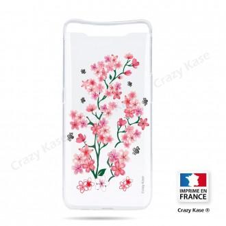 Coque compatible Galaxy A80 souple Fleurs de Sakura - Crazy Kase