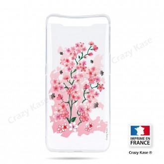 Coque compatible Galaxy A80 souple Fleurs de Cerisier - Crazy Kase