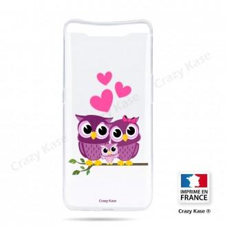 Coque compatible Galaxy A80 souple Famille Chouette - Crazy Kase