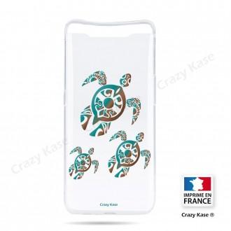 Coque compatible Galaxy A80 souple Famille Tortue - Crazy Kase