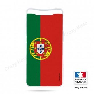 Coque compatible Galaxy A80 souple Drapeau Portugais - Crazy Kase
