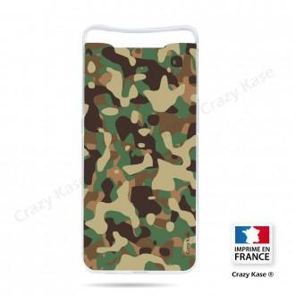 Coque compatible Galaxy A80 souple Camouflage militaire - Crazy Kase