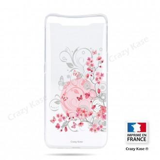 Coque compatible Galaxy A80 souple Fleurs et papillons -  Crazy Kase