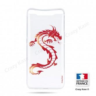 Coque compatible Galaxy A80 souple Dragon rouge - Crazy Kase