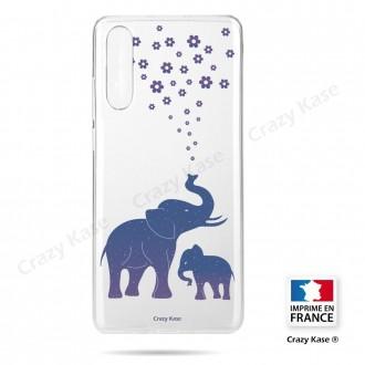 Coque compatible Galaxy A50 souple Eléphant Bleu - Crazy Kase